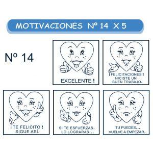 MOTIVACIONES NO.14 CORAZONES  X 5