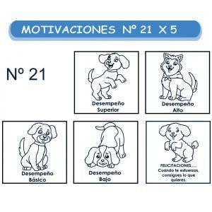 MOTIVACIONES NO.21 PERRITOS X 5