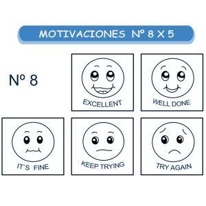 MOTIVACIONES NO.8 EN INGLES X 5