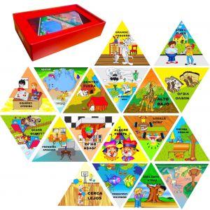 Rompecabezas Triangular x 18 ( Opuestos)