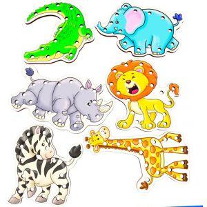 ANIMALES PARA ENCAJAR Y ENHEBRAR X 8
