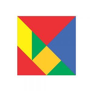 TAN-GRAM PLÁSTICO 12 .4 X 12.4 CM